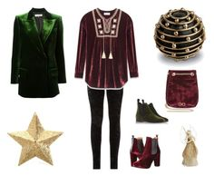 """""""Velvet New Year's Eve!"""" by tererock ❤ liked on Polyvore featuring L'Objet, Yves Saint Laurent, Eliot Raffít, Penelope Chilvers, C.B. Made in Italy, Emilio Pucci and C. Wonder"""