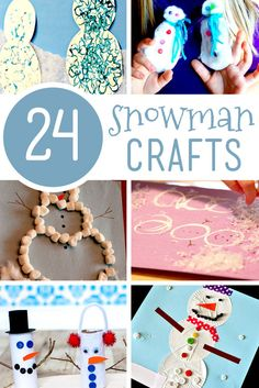Bringing the snow fun indoors with snowman crafts for kids to make. They're cute and fun to make, plus something to do when you're stuck inside!