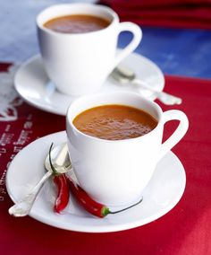 Paprikasosekeitto, resepti – Ruoka.fi Keep Calm And Drink, Espresso Cups, Chocolate Coffee, Coffee Love, Coffee Drinks, Coffee Beans, Flat Lay, Mornings, Mockup