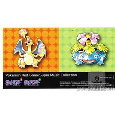 Pokemon Center 2016 Fire Red Leaf Green Music Collection Charizard Venusaur Large Sticker NOT SOLD IN STORES
