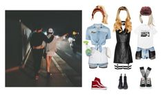 """""""Hazard(위험)   """"Whatta Man"""" MV Rae Mai's Outfits"""" by epilxgue ❤ liked on Polyvore featuring Bitching & Junkfood, Gap, Chef Works, GUESS, Abyss, Vans, T By Alexander Wang and Pull&Bear"""