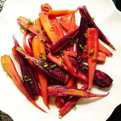 Who doesn't love a roasted carrot? Thanks Epicurious! Pan-Roasted Carrots with Miso-Butter