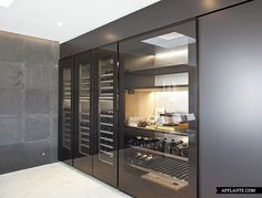 Restaurants,Commercial wine cabinets - All architecture and design manufacturers in this category - Videos Wine Cabinet Furniture, Oak Wine Rack, Wine Bottle Display, Istanbul Hotels, Cupboard Design, Stainless Steel Doors, Wine Cabinets, Beautiful Villas, Wooden Shelves