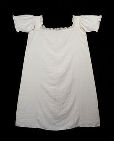 Chemise: 1851, Linen w/ muslin frill, from The Victoria and Albert Museum