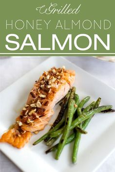 The Simplest Honey Almond Salmon | Healthy, quick and easy, this recipe adds a bit of interest to a simple weeknight meal | #designthusiasm