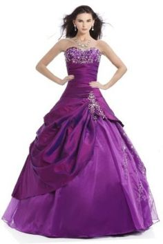 If only I had a prom to go to again! Faironly M14 Purple Formal Prom Dress,