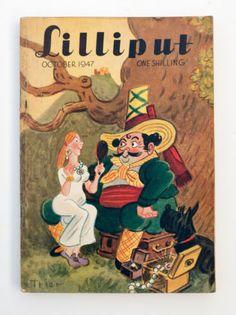 Vintage-1940s-Lilliput-Magazine-October-1947-Trier-Cover-Simenon-Story