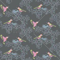 Birds Nest - Small - Fotobehang & Behang - Photowall
