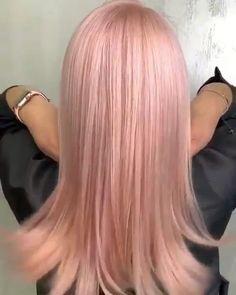 hair highlights videos HAIR C Hair Streaks, Blonde Hair With Highlights, Balayage Hair Blonde, Brown Blonde Hair, Blorange Hair, Rose Hair, Pastel Pink Hair, Hair Color Pink, Short Grunge Hair