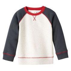 Toddler Boy Jumping Beans® Raglan Colorblock Solid Fleece-Lined Pullover