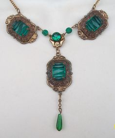 Vintage Art Deco Vauxhall Lavalier Necklace by LynnHislopJewels