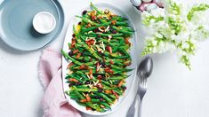 Green Beans With Bacon, Green Bean Recipes, Create A Recipe, Dried Cranberries, Vegetable Recipes, Food Hacks, Healthy Eating, Cooking Recipes, Vegetables