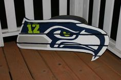 Seahawk sign made from recycled pallets hand by YOUHAVETOLUVIT