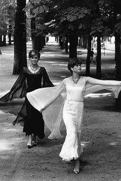 1960, Models in Chanel evening dresses