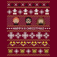 For the Hogwarts ugly sweater party. For the Hogwarts ugly sweater party. Knitting Kits, Fair Isle Knitting, Knitting Charts, Double Knitting, Ugly Sweater Party, Ugly Christmas Sweater, Cross Stitch Embroidery, Cross Stitching, Harry Potter Weihnachten