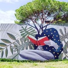 'Reading makes you grow' Street Art by Artez Armstrong Argentina #art…