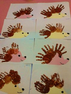 Handprint hedgehogs