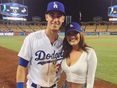 Out of Left Field: Could Cody Bellinger hit is Vlad Guerrero Jr. positioned to get paid like Acuna? Plus much more - The Grueling Truth Baseball Couples, Baseball Boyfriend, Sports Couples, Baseball Boys, Dodgers Baseball, Mlb Players, Baseball Players, Cute Couples Goals, Couple Goals