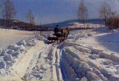 Картины Маслом, Рисунки Пейзажей, Мастер-класс, Пути, Снег