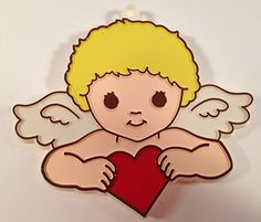 Hallmark CUPID Valentine Cookie Cutter Angel with Heart Vintage 1979 -- Check out the image by visiting the link.