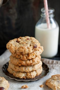 Pyszne ciastka owsiane Cookies, Fit, Interior, Crack Crackers, Shape, Indoor, Biscuits, Cookie Recipes, Interiors