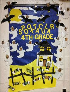 halloween bulletin boards oh how pinteresting - Halloween Crafts For The Classroom