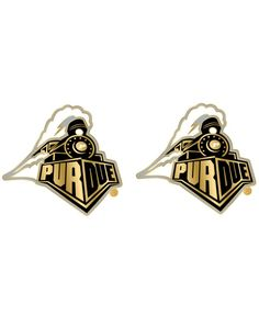 Aminco Purdue Boilermakers Logo Post Earrings