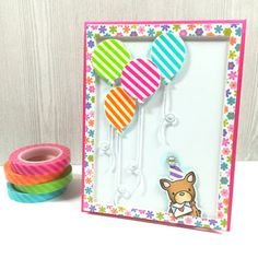 Bubblegum Paper: A Washi Tape Birthday Card | Happy National Scrapbook Day