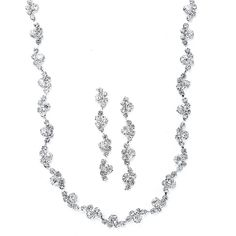Wavy Rhinestone Necklace and Earrings Set  Everything But The Wedding Dress, www.EverythingButTheWeddingDress.com