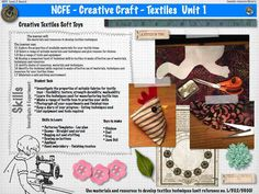 AS WJEC Textiles | Creative Craft Unit 1 A Level Textiles, Textile Products, Creative Textiles, Study Design, Educational Technology, Creative Crafts, Textile Design, Briefs, 9 And 10