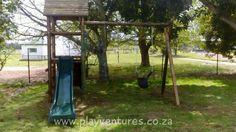 Jungle gym installed by Play Ventures at a home in Muldersvlei, Stellenbosch. Visit our website at www.playventures.co.za #jungle #junglegym #capetown #poleyard #wood #wooden #playventures #play #playground  #drum #metal #slide #children #kids #development #school #creche #sandbox #slide #swings #swingset #cargo #net