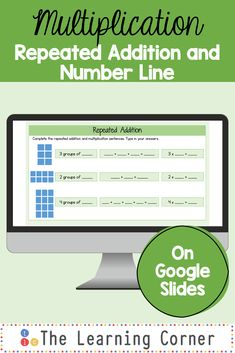 Repeated addition is one of the best ways to make sense of multiplication. This Google Slide activity shows an array to match with an addition sentence and a multiplication sentence. It also has a number line to match the multiplication facts.