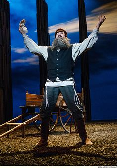 If I were a rich man...David Studwell as Tevye in FIDDLER ON THE ROOF at Portland Center Stage.  And shout out to that beard! All beards were handmade in-house.  Photo by Patrick Weishampel. #pcs_Fiddler  #beards