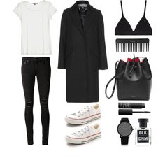 Easy Peasy by fashionlandscape on Polyvore featuring Mode, Calypso St. Barth, Topshop, rag & bone/JEAN, Proenza Schouler, Converse, Larsson & Jennings, NARS Cosmetics, BLK DNM and Sephora Collection