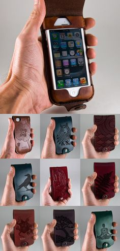 Poppy Flower/Latte Case! Leather iPhone 5 Wallet / iPod Touch (5th gen) - Etched Design