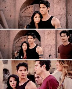 "Teen Wolf Season 04 Episode 12 ""Smoke and Mirrors"" Season Finale. Scott, Kira, and Malia and Stiles, and Liam."