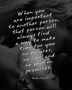 No excuses No lies No broken promises