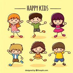 Colección de niños felices