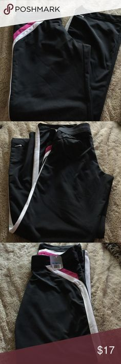Nike sweat pants NWT Black with pink and white stripes size medium Nike Pants Track Pants & Joggers