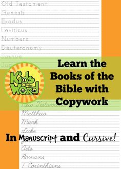 Learn the Books of the Bible with Copywork - Kids in the Word