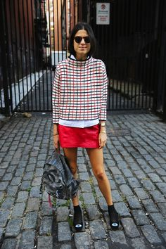 Leandra Medine and his passion for the (mini) skirts