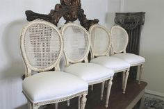 antique french cane back dining chairs (drool)