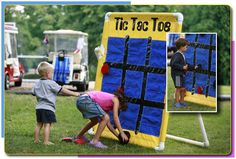 Bottle Stand Carnival Game Tic-Tac-Toe three times in a row? Carnival Party Games, Spring Carnival, Carnival Themes, Circus Party, School Carnival, Halloween Carnival, Fun Games For Kids, Kids Party Games, Fall Festival Games