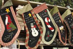 Great idea like chalk paint stockings, seen here   http://www.american-quilting.com/blog/?p=1171
