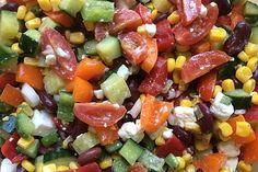 Fruit Salad, Cobb Salad, Feta Salat, Grilling, Mexican, Ethnic Recipes, Food, Party, Tomatoes
