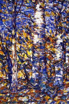 Christian Rohlfs ( 1849-1938)-Birch Forest 1907