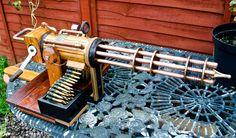 Home built Steampunk Gatling gun. by steampunk-willy64.deviantart.com on @deviantART