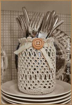 Resultado de imagen para tarros crochet