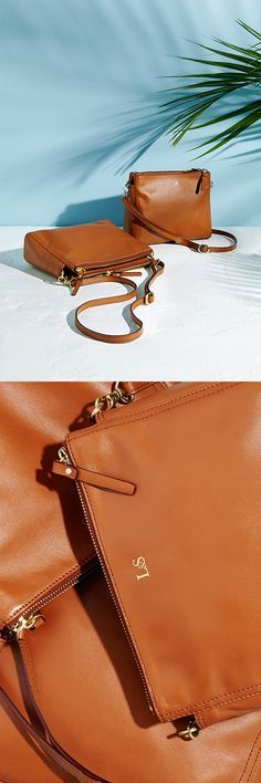 The Pearl leather crossbody bag. Now available in the color Sienna! Designed by Lo & Sons : The Pearl leather crossbody bag. Now available in the color Sienna! Designed by Lo & Sons Cute Purses, Purses And Bags, Foto Still, Lo Sons, Beautiful Bags, Swagg, Leather Crossbody Bag, Fashion Bags, Fashion Accessories
