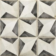 Tiempo - Ann Sacks Tile & Stone (hand painted design onto rustic terracotta tiles that have been distressed) Floor Patterns, Tile Patterns, Shape Patterns, Textures Patterns, Print Patterns, Stone Mosaic, Mosaic Tiles, Wall Tiles, Tiling